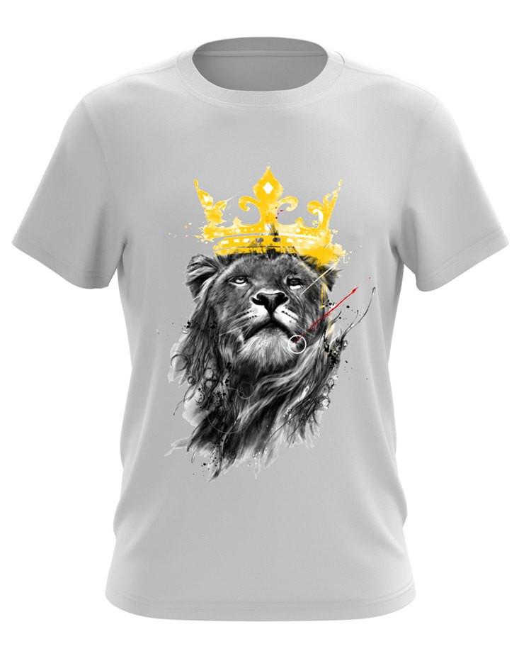 Футболка з принтом Лев у короні
