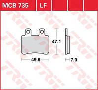 Тормозные колодки для Yamaha XT / Peugeot Elyseo TRW / Lucas MCB735