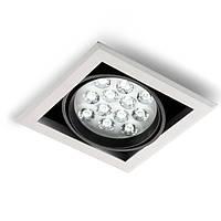 Встраиваемый светильник с поворотным модулем, LED Edisson 12W 3000K Ra85/1200lm, блок питания в комплекте