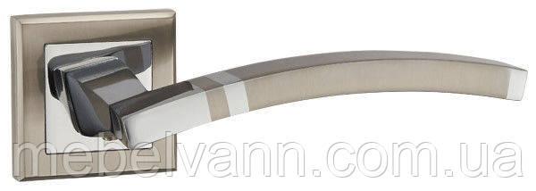 Ручка раздельная PUNTO NAVY QL SN/CP-3 матовый никель/хром