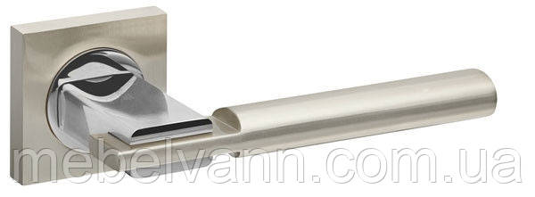 Ручка раздельная FUARO JAZZ KM SN/CP-3 матовый никель/хром