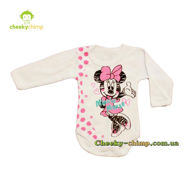 Бодик Minnie Mouse на девочку 62, 68, 74, 80 смп