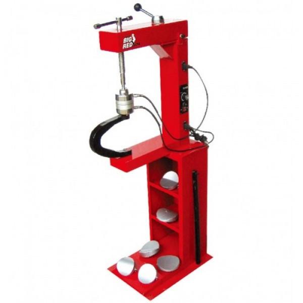 Вулканизатор с винтовым прижимом, на стойке, 2 нагревательные пластины, комплект прижимов (6 форм) TORIN TRAD0