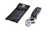 Многофункциональный нож, Traveler МТ 093, Мультиинструмент,+ разводной ключ, Мультитул в поход
