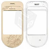 Защитное стекло корпуса для Nokia 7370, оригинал (золотистое)