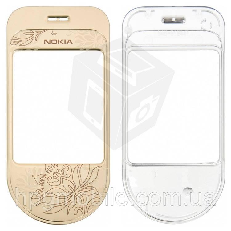 Защитное стекло корпуса для Nokia 7370, золотистое