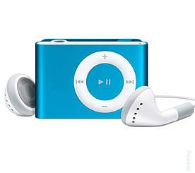 MP3 плеер копия iPod Shuffle, SLIM с наушниками Голубой