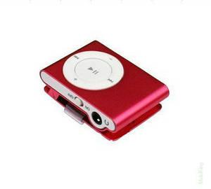 MP3 плеер копия iPod Shuffle, SLIM с наушниками Красный