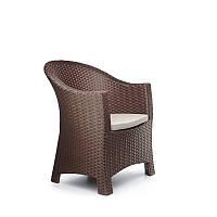 Кресло плетеное из искусственного ротанга komfort 70x73x93 см