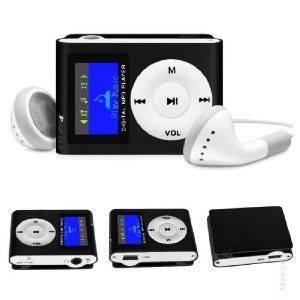 MP3 плеер копия iPod Shuffle, SLIM с LCD экраном, наушниками и микрофоном
