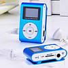 MP3 плеер копия iPod Shuffle, SLIM с LCD экраном, наушниками и микрофоном Голубой