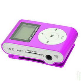 MP3 плеер копия iPod Shuffle, SLIM с LCD экраном, наушниками и микрофоном Фиолетовый