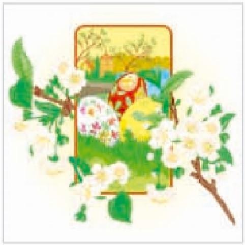 Салфетка La Fleur пасх весеннее цветение
