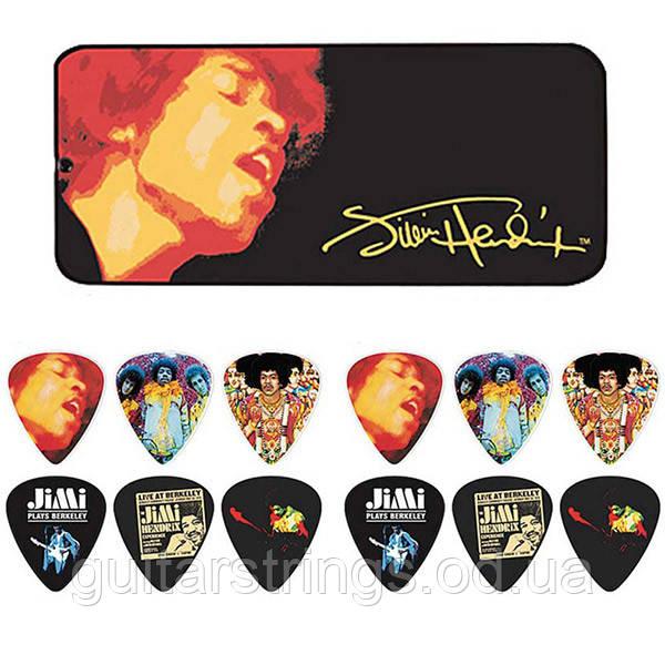 Набор Медиаторов Dunlop JH-PT03H Jimi Hendrix Signature Ladyland Heavy