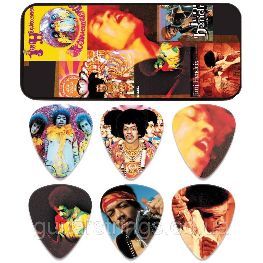 Набор Медиаторов Dunlop JH-PT08H Jimi Hendrix Signature Montage Heavy
