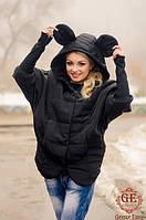 Курточка женская весна/осень с ушками на капюшоне