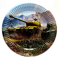 "Тарелки ""World of Tanks"". Размер: 18см. В упак: 10шт."