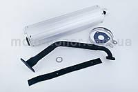 Глушитель на китайский скутер   4T GY6 125/150   (+колено, прокладки)