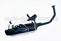 """Глушитель на китайский скутер   4T GY6 125/150   """"NZR""""   (черный)"""