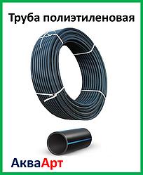 Труба полиэтиленовая черн/син PN 6 25