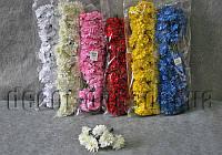 Букет из тканевых гвоздик с тычинками 3,5 см 6 шт