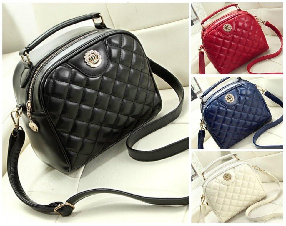 7ae22c465160 Женская сумка с Короной стеганная - ИМ Ирина- магазин женской и мужской  одежды,обуви