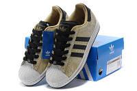Кроссовки золотые женские Adidas SuperStar II Originals Golden Phoenix для спорта, активного отдыха