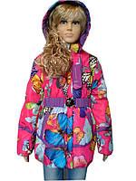 Нарядная курточка в расцветках с капюшоном, фото 1