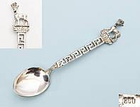 Старая коллекционная ложка, серебро 800 пробы, Германия, фото 1