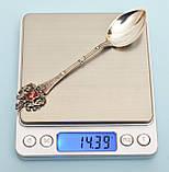 Антикварная коллекционная ложка, серебро, 800  Германия, фото 3