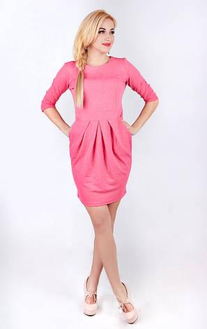 Платье футляр розовое, фото 2