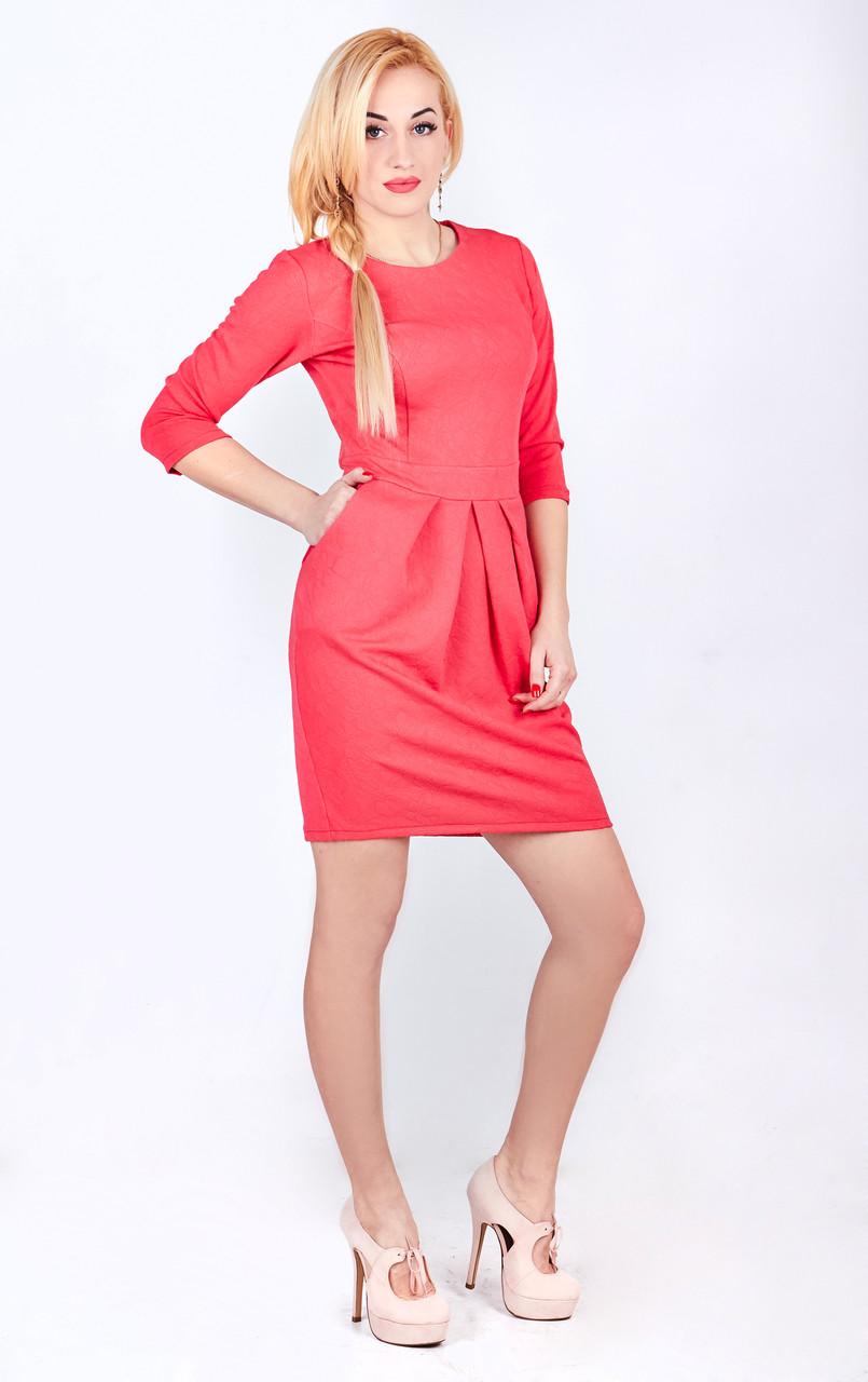 Платье футляр королловое