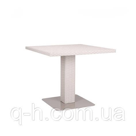 Квадратный стол плетеный из искусственного ротанга Martin, фото 2