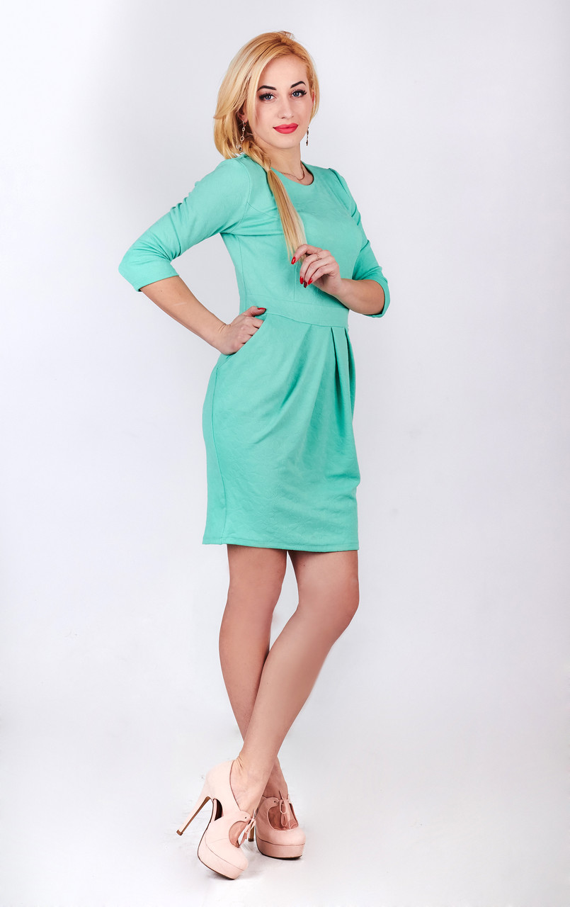 Платье футляр бирюза