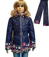 Куртка для девочек с шарфиком