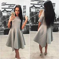 Платье из неопрена с молниями