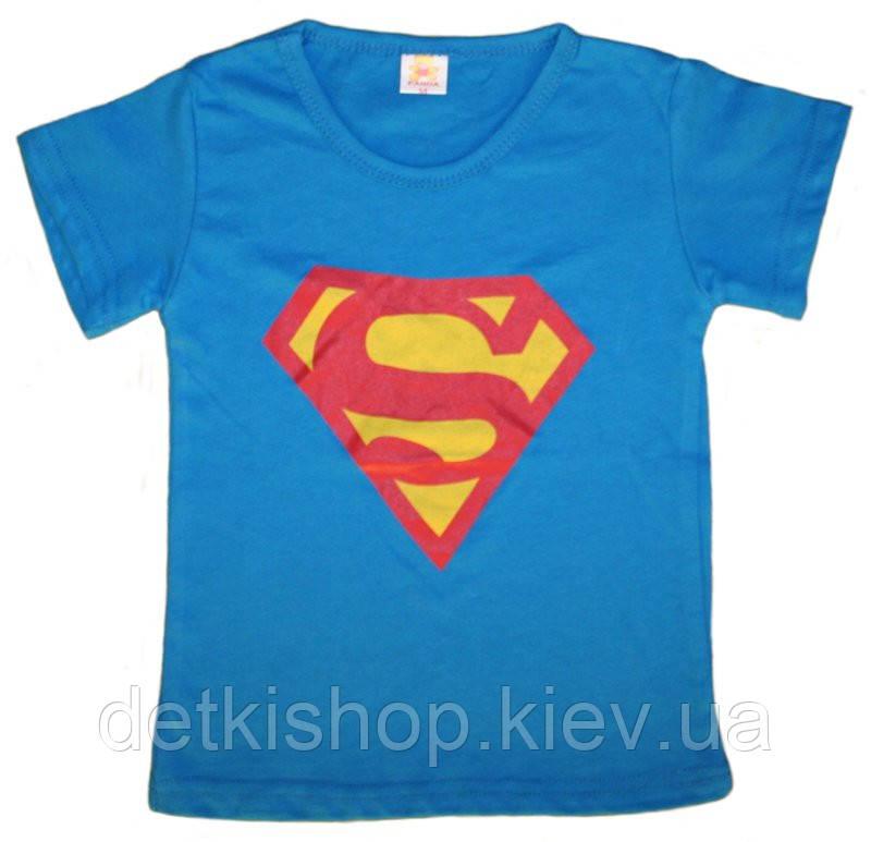 Футболка «Супермен» (синяя)