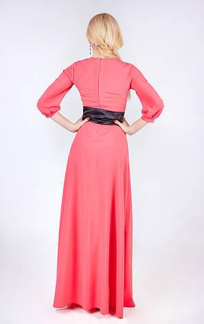 Длинное в пол платье однотонное, фото 2