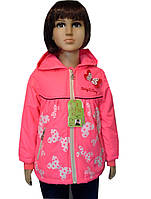 Куртка ветровка для девочек с бабочками