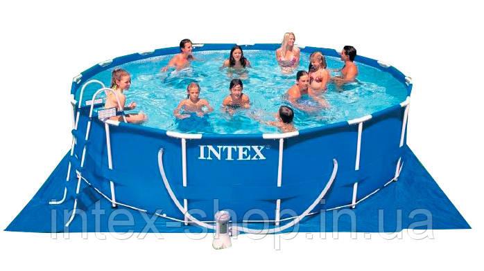 Каркасний басейн (457x84 см), Metal Frame, Intex 28228, фото 2