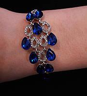 Браслет Ромб с синими камнями