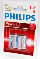 Батарейка PHILIPS Power Life LR03 1x4