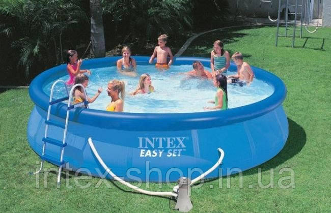 Надувний басейн з комплектом (457х84 см), Easy Set, 28180 Intex, фото 2