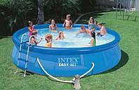 Надувной бассейн с комплектом Easy Set, Intex 28180 (457х84 см)