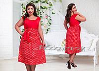 Платье яркое большого размера 48-54