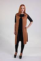 Модный пальто-жилет с накладными карманами, фото 1