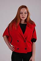 Яркое молодежное пальто стильного кроя, фото 1