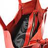 Женская кожаная сумка 828 красная, фото 6