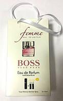 Мини парфюмерия женская Hugo Boss Femme в подарочной упаковке 3х15 ml DIZ
