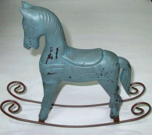Лошадка Прованс голубая